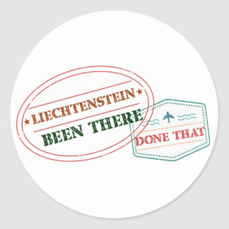 Liechtenstein Been There Done That Round Sticker