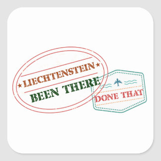 Liechtenstein Been There Done That Square Sticker