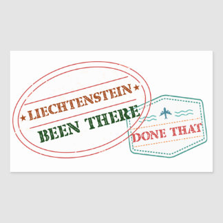 Liechtenstein Been There Done That Sticker