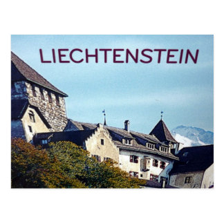 liechtenstein castle postcard