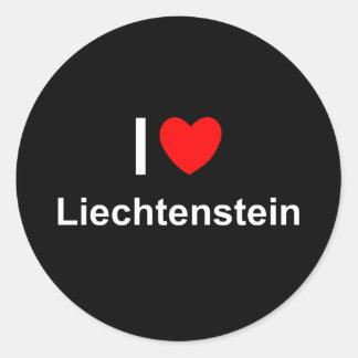Liechtenstein Classic Round Sticker