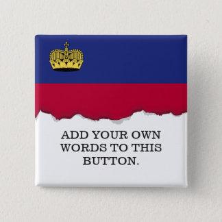 Liechtenstein Flag 2 Inch Square Button