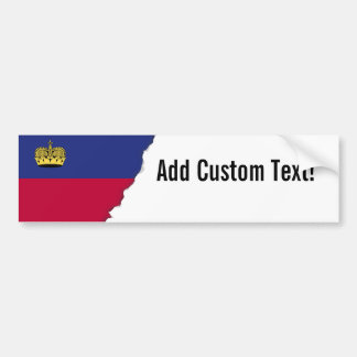 Liechtenstein Flag Bumper Sticker