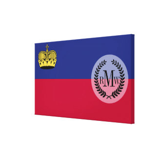 Liechtenstein Flag Canvas Print
