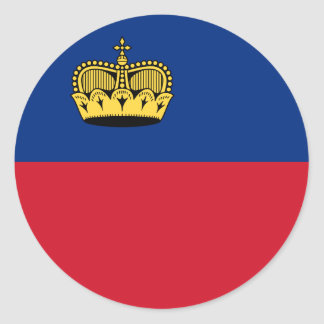 Liechtenstein Flag Classic Round Sticker