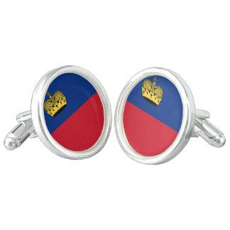 Liechtenstein Flag Cuff Links