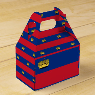Liechtenstein Flag Favor Box