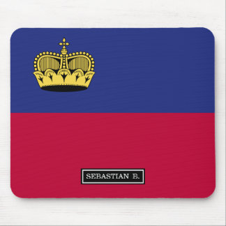 Liechtenstein Flag Mouse Pad