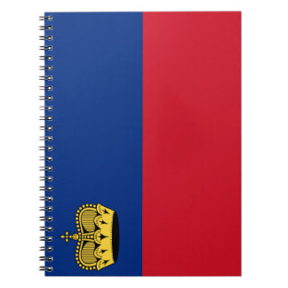 Liechtenstein Flag Notebook