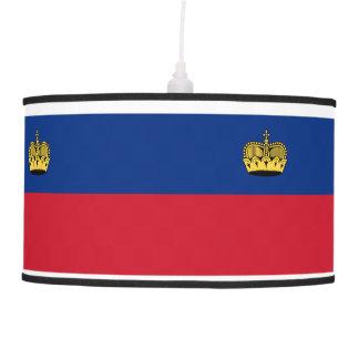 Liechtenstein Flag Pendant Lamp