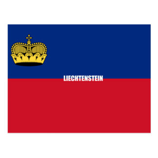 Liechtenstein Flag Postcard