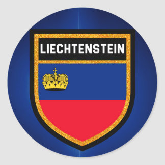 Liechtenstein Flag Round Sticker