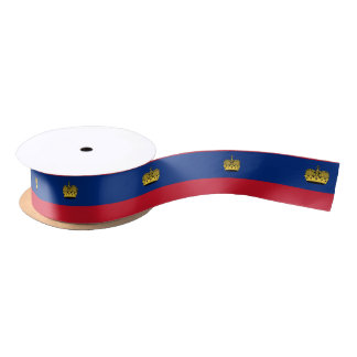 Liechtenstein Flag Satin Ribbon