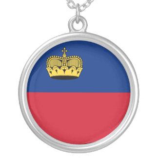 Liechtenstein Flag Silver Plated Necklace