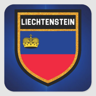 Liechtenstein Flag Square Sticker