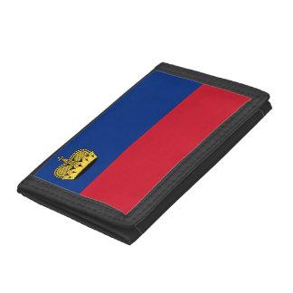 Liechtenstein Flag Tri-fold Wallets