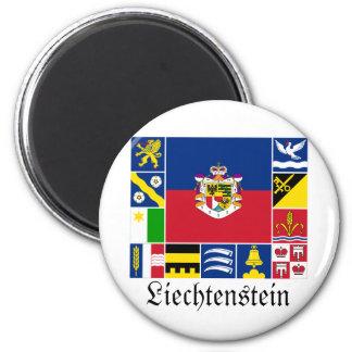 Liechtenstein & its Gemeinde Flags Magnet