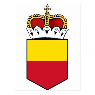 Liechtenstein Lesser Coat Of Arms Postcard