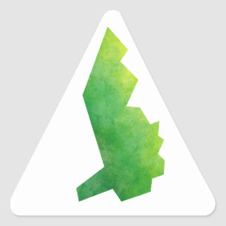 Liechtenstein Map Triangle Sticker