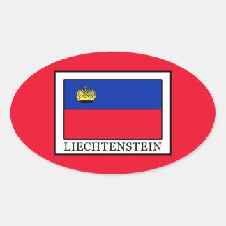 Liechtenstein Oval Sticker