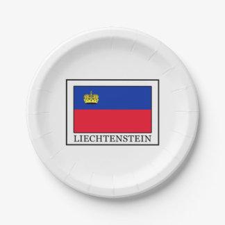 Liechtenstein Paper Plate