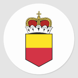 liechtenstein shield round sticker