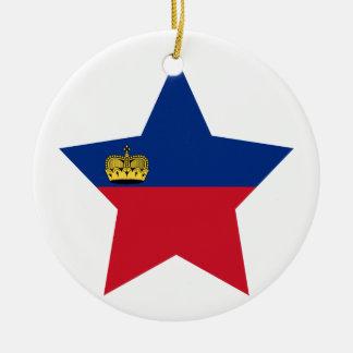 Liechtenstein Star Ceramic Ornament