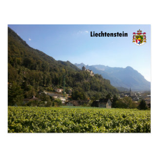 Liechtenstein with coats of arms/Liechtenstein Postcard