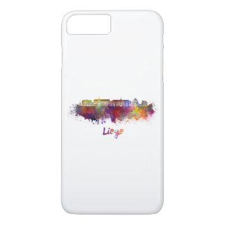 Liege skyline in watercolor iPhone 8 plus/7 plus case