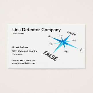 Lies Detector Company Business Card