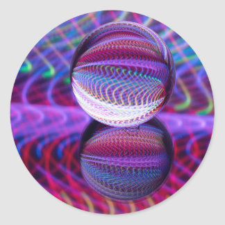 Lies in the crystal ball classic round sticker