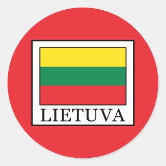 Lietuva Classic Round Sticker