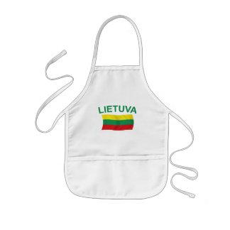Lietuva (Lithuania) Green Ltrs Kids Apron