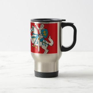 Lietuvos Valstybes Veliava, Vytis, Lithuania Flag Travel Mug