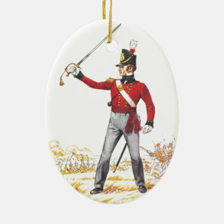 Lieutenant 1815, Royal Regiment of Foot Ceramic Oval Ornament
