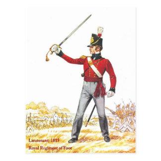 Lieutenant 1815, Royal Regiment of Foot Postcard