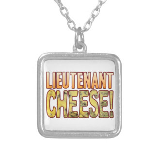 Lieutenant Blue Cheese Silver Plated Necklace