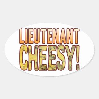 Lieutenant Blue Cheesy Oval Sticker