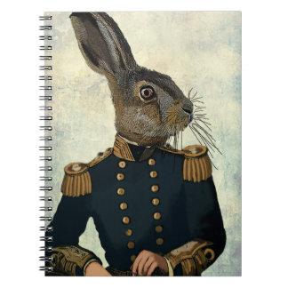 Lieutenant Hare 2 Spiral Note Books
