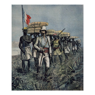 Lieutenant Mizon  on his 1892 Mission Poster