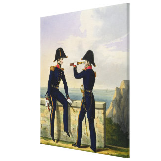 Lieutenants, plate 1 from 'Costume of the Royal Na Gallery Wrapped Canvas