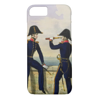 Lieutenants, plate 1 from 'Costume of the Royal Na iPhone 7 Case