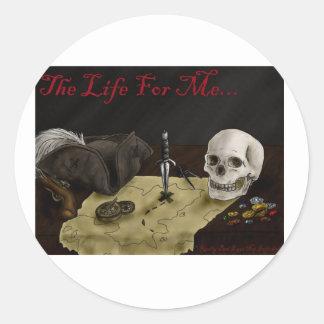 Life4MePirateSticker Classic Round Sticker