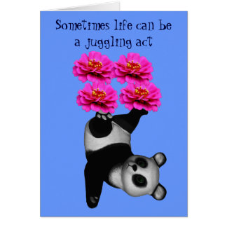 Life A Juggling Act Panda Bear Inspirational Card