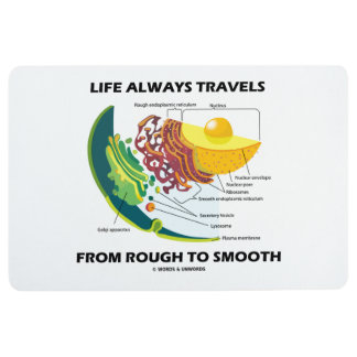Life Always Travels From Rough To Smooth Cell Bio Floor Mat