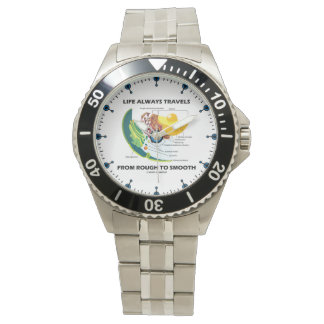 Life Always Travels From Rough To Smooth Cell Bio Wristwatch