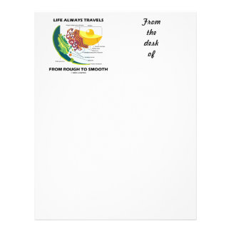 Life Always Travels From Rough To Smooth Letterhead Template