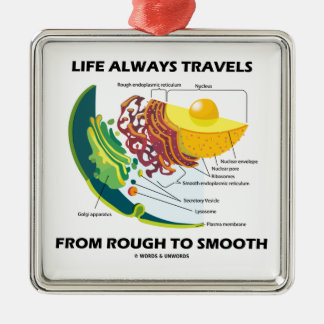 Life Always Travels From Rough To Smooth Metal Ornament