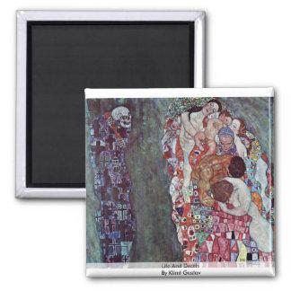 Life And Death By Klimt Gustav Refrigerator Magnet