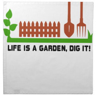Life and Garden dig it Napkin